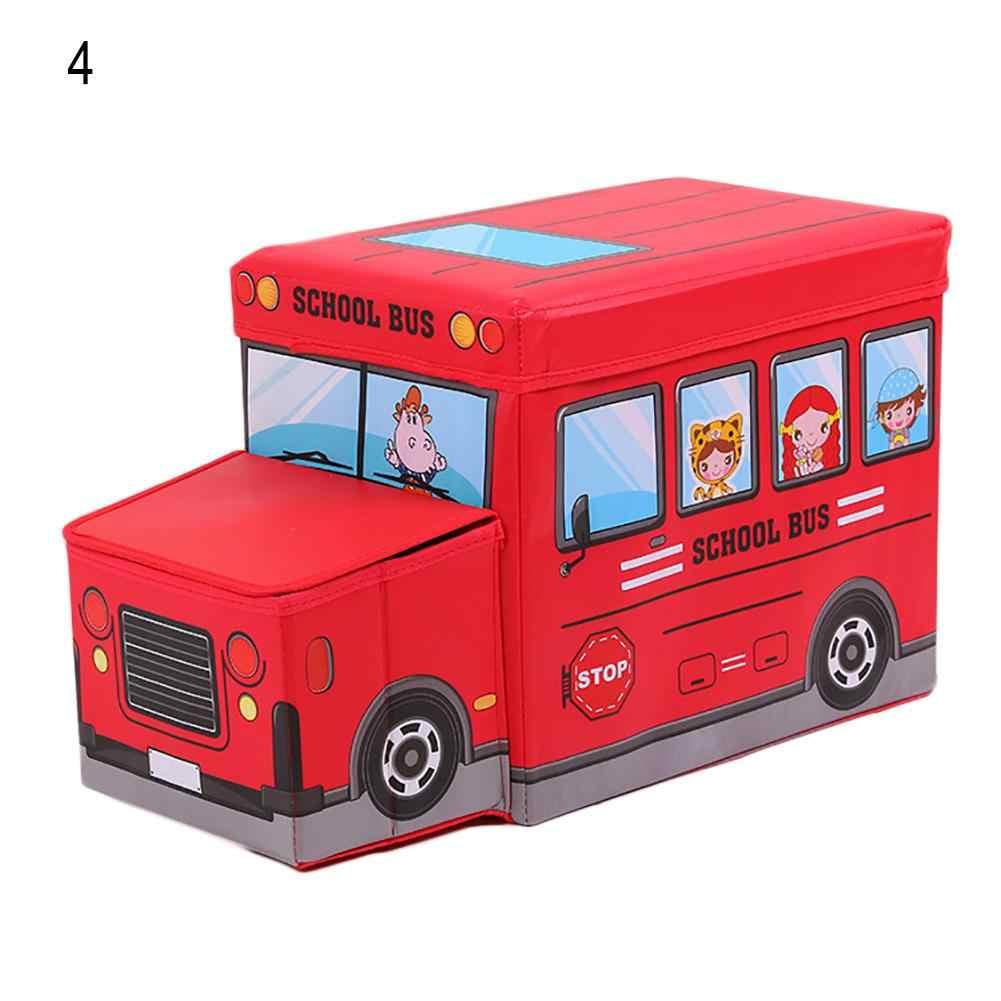 6f97eed72c Storage Box Multi Usage Police Car School Bus Vehicle Toy Storage Box Kids  Stool Household