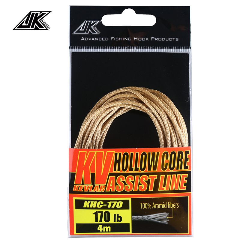 Fishing-Line String Hook-Accessories Boat Jigging Braided Kevlar Hollow-Core JK For 170