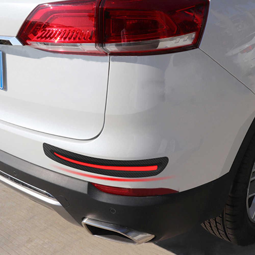 2 ชิ้น Anti Collision รถด้านหน้า/ด้านหลังขอบมุมยาม Strip Bumper Scratch ป้องกัน Auto ตกแต่งรถสติกเกอร์รถ -จัดแต่งทรงผม