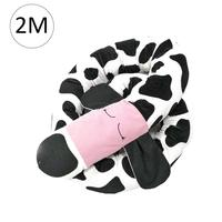 Newborn baby Crib Pillow with Spotted dog pattern Children Pure Cotton Bed with Long Bumper Snake