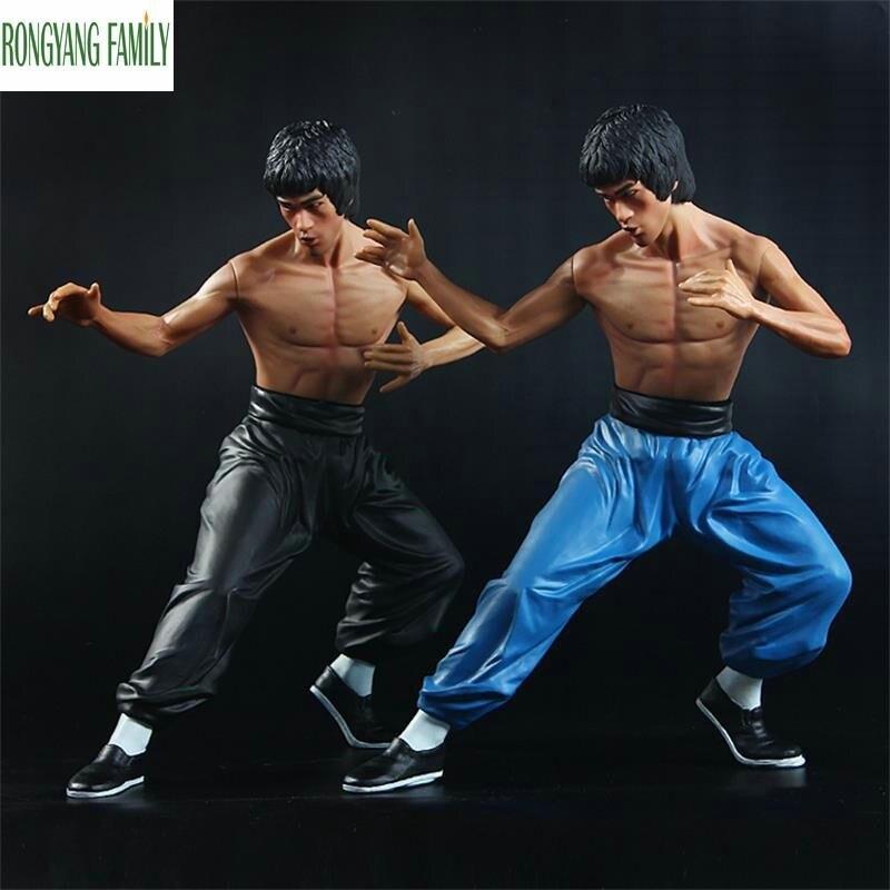 Chinois ornement Sculpture Bruce Lee personnage Statue modèle chine Kung Fu combat Figurines guerrier Figure décor à la maison artisanat