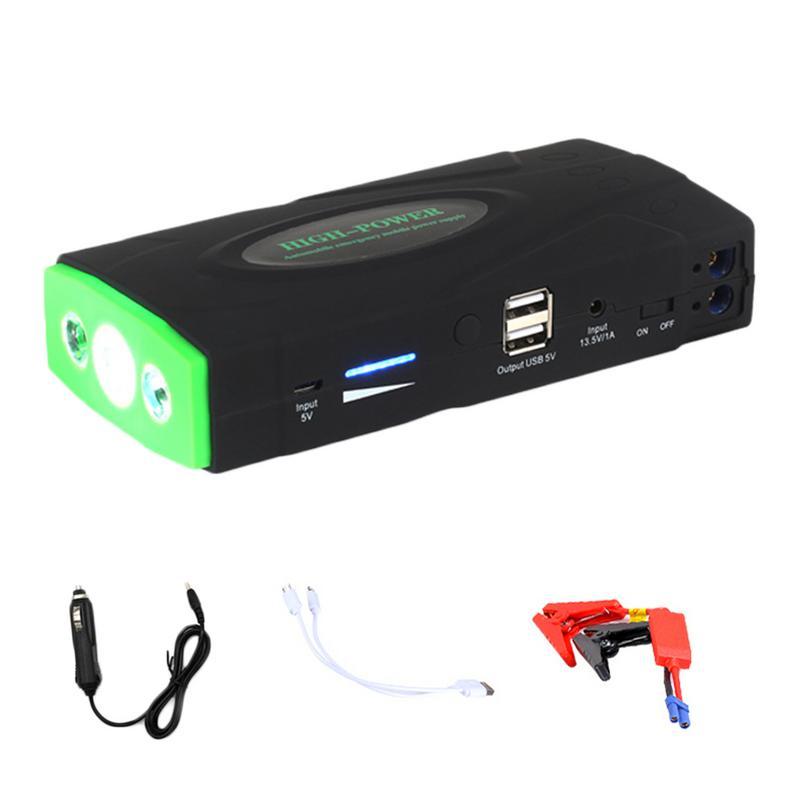 Voiture saut démarreur 12 V Portable bloc d'alimentation Auto batterie Booster Usb voiture chargeur Auto batterie Booster téléphone chargeur intégré LED