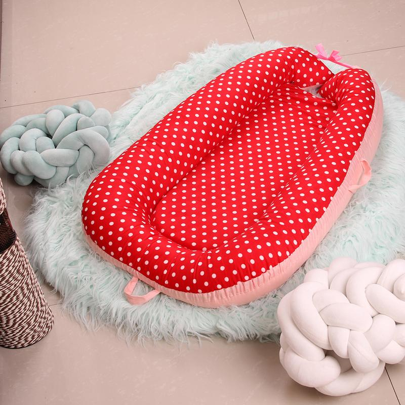 16 Color Soft Baby Nest Bed Cotton Crib Portable Isolation Newborn Bionic Crib Travel Bed For Children Infant Kids Cotton Cradle