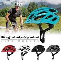2019 Men Women Bicycle Safety Helmets Matte Black Bike Helmet Mountain Road Bike Integrally Molded Cycling Helmets Safety Cap