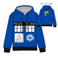 Hot Anime  Doctor Who Cosplay Hoodies Standard Hooded Winter Tops Unisex funny Sweatshirts