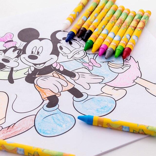 EZONE Kids Non-toxic Graffiti Wax Crayon 8/12/24 Colors Painting Color Pen Creative Graffiti Kawaii Pens For Kids Painting 4