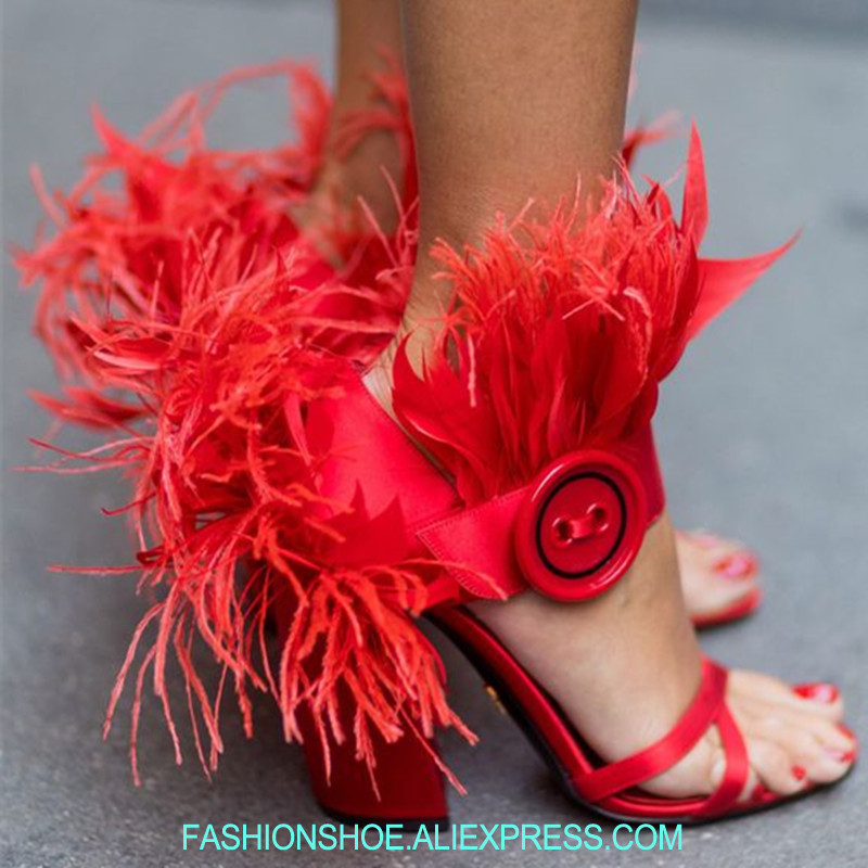 Straße Sandalen Runway High Show Laufsteg Show as Mode Mujer Ferse Frauen As Heels Chunky Schuhe Party Sommer Stil Feder Sexy Alias 7Rqxx5z6