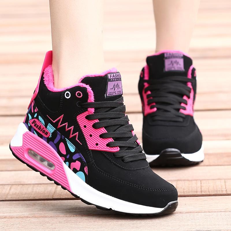 2018 Fashion Korean Wedge Black Pink Platform Winter ...