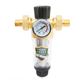 Brass Material Faucet Water Pipe Prefilter Water Purifier with Meter