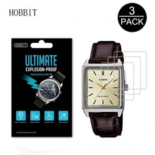 3Pack 5H Anti-Shock Screen Protector for Casio MTP-V007L Wristwatch Screen Prote