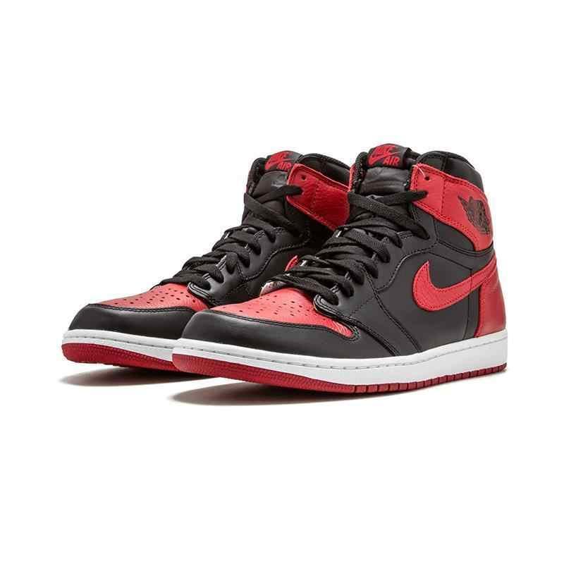 a3533bccb103 ... Nike Air Jordan 1 Retro High OG AJ1 Black And Red Original Breathable  Men s Basketball Shoes ...