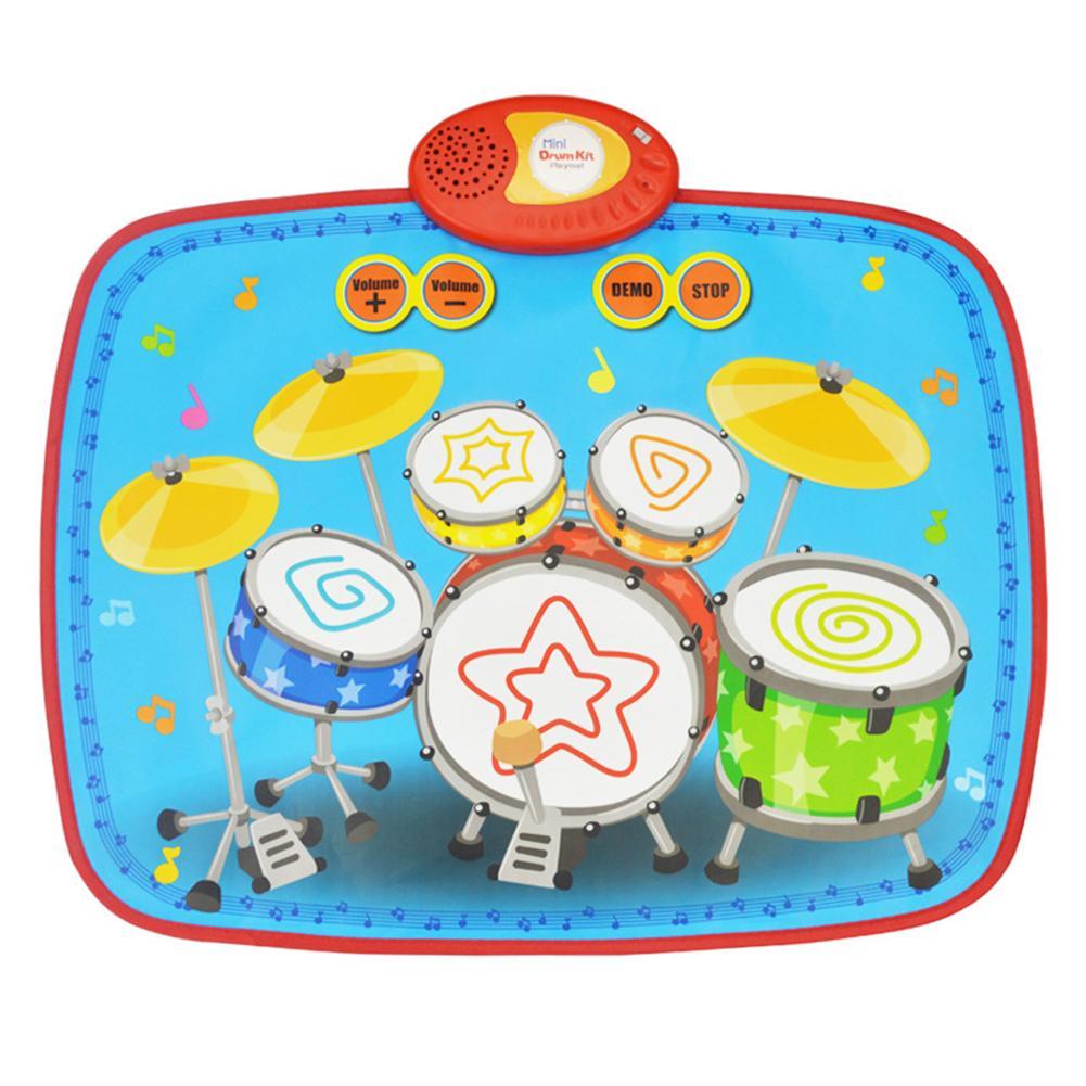 Mini batterie pour enfants jouets de couverture de musique éducation précoce Puzzle maternelle jamais dépassé Fun musique tapis cadeau pour les enfants