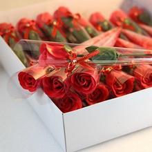 36pcs Bathing Soap Flower Set Rose Petals Sterilized Shower Soap Bath Practical Gift Box Weddings Valentine's Day Anniversary