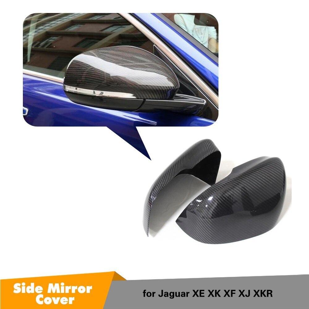 Pour Jaguar XK XF XJ XKR miroir couvercle ajouter et remplacement style XF XE fibre de carbone vue latérale rétroviseur 2011-2018