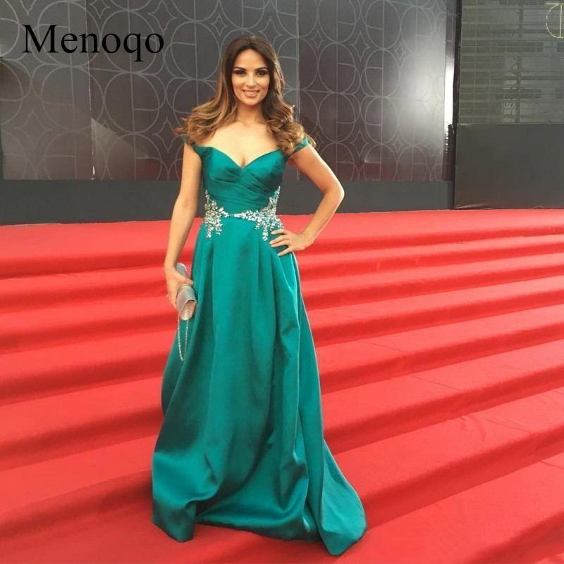 Celebrity Wedding Dresses 2019: Menoqo 2019 Celebrity Red Carpet Party Gowns Off Shoulder