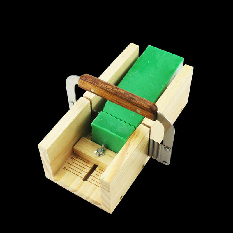 Handmade Diy Soap Cutting Tool, Rubber Wood Adjustable Soap Cutting Device, Simple Soap Making Fixed Support Supplies