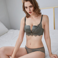 Sexy Bra and panty set bralette Lace bras for women Edge Bras Underwear lady half cup sexy push up bra sets intimate lingerie