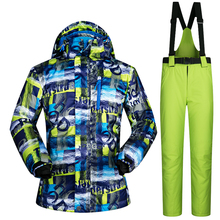 Ski Suit Men Brands Winter  Waterproof Thicken Outdoor Snow Sets Mountain Warm Skiing And Snowboarding Male Jacket