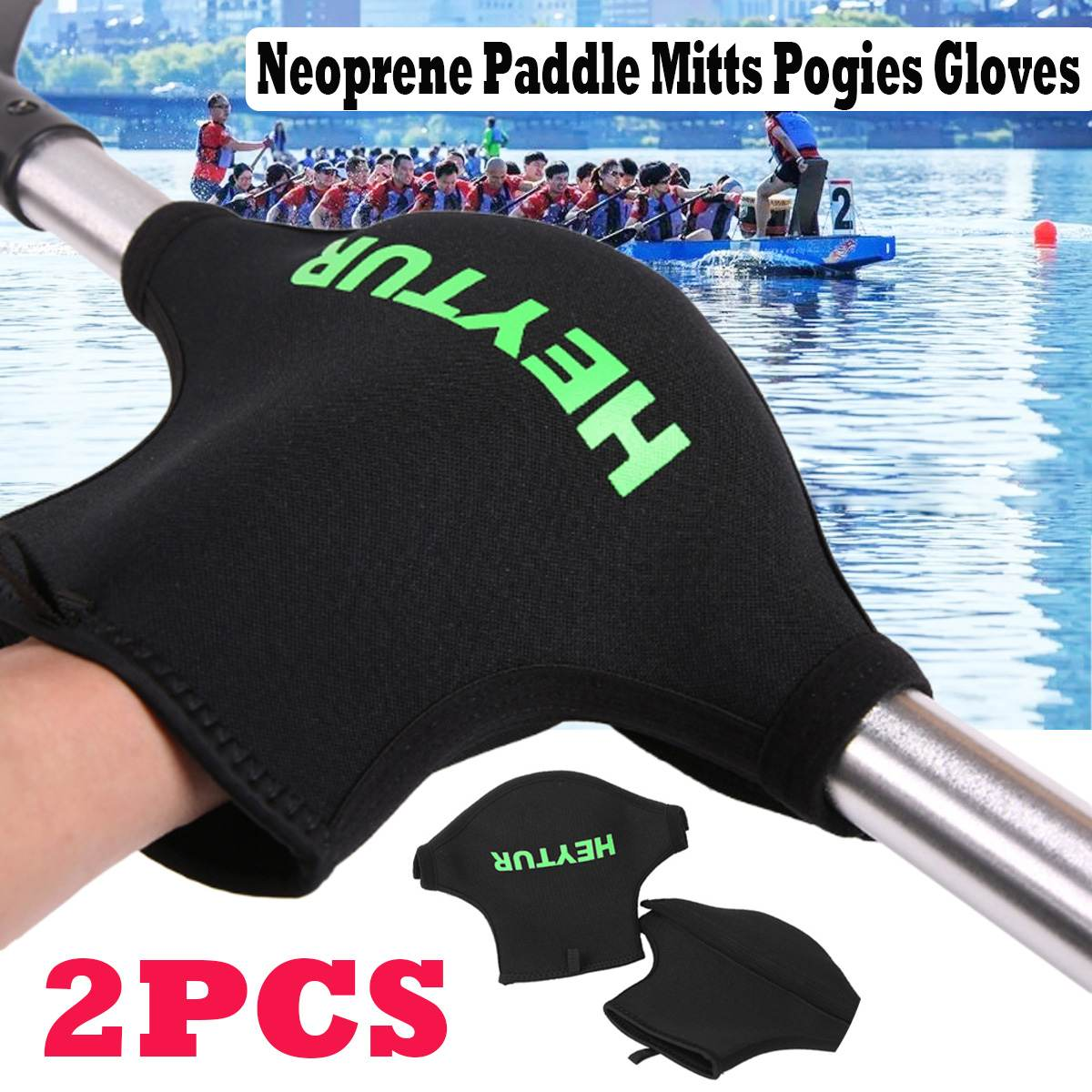 Neoprene Gloves Wear Resistant Anti Slip Kayak Paddle Grips Paddle Mitts For Kayaking Sea Kayak Canoe  Paddle