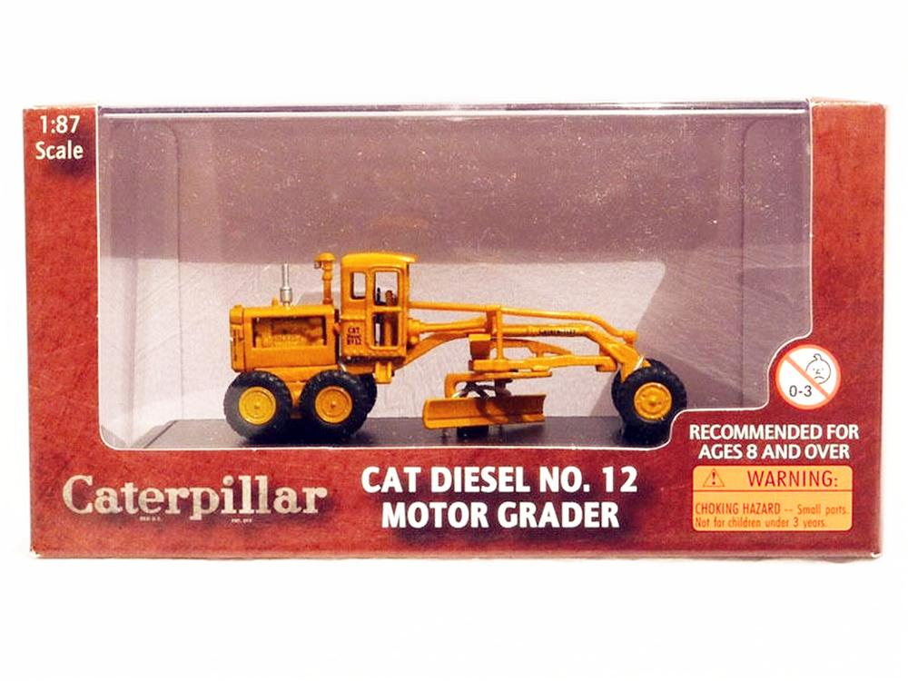 Norscot 1/87 HO Caterpillar Cat Diesel No 12 Motor Grader Diecast model-in Diecasts & Toy Vehicles from Toys & Hobbies    1