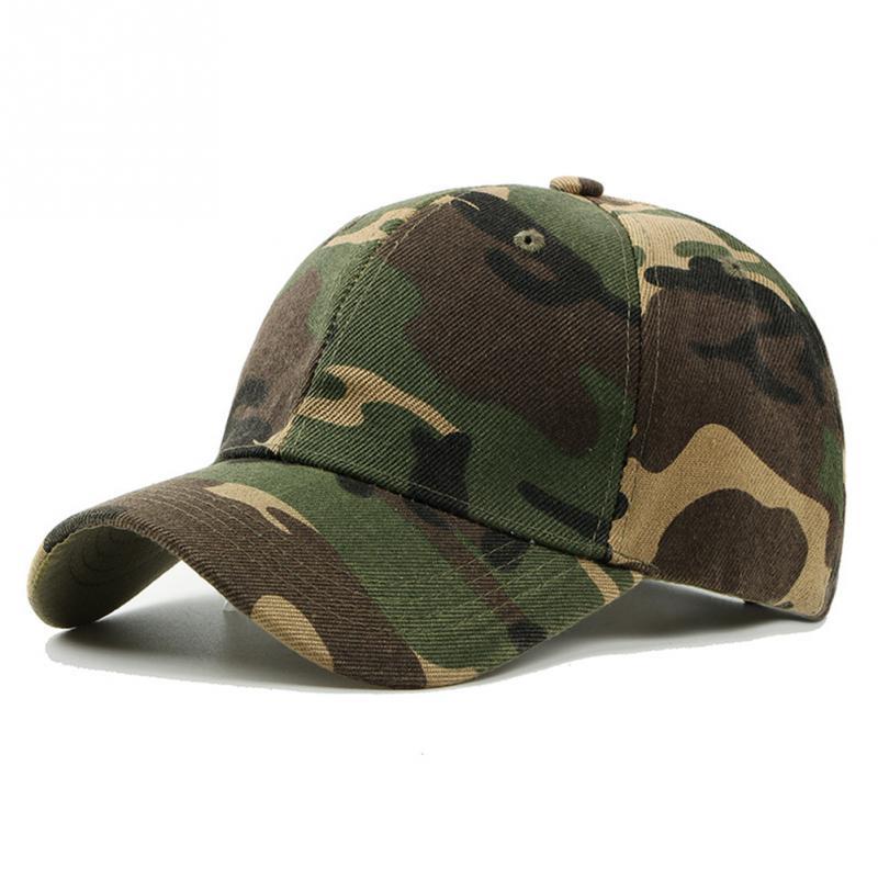 New Fashion Adjustable Unisex Army Camouflage Camo Cap Casquette Hat Baseball Cap Men Women Casual Desert Hat #H1020(China)