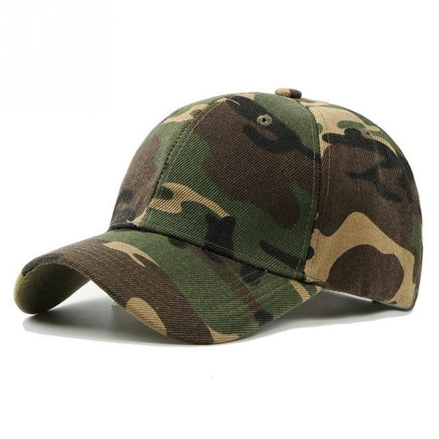 New Fashion Adjustable Unisex Army Camouflage Camo Cap Casquette Hat Baseball Cap Men Women Casual Desert Hat #H1020