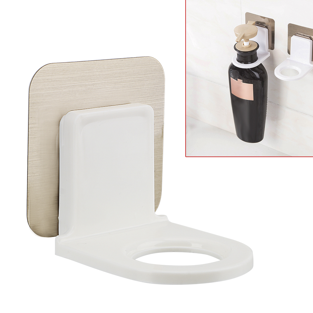 Strong Adhesive Hook For Body Wash Shampoo Bottle Wall Mounted Self Sticky Hooks Wall Storage Power Plug Socket Hanger Holder