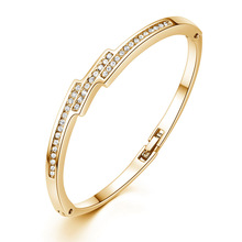 Silikolove 1pcs Trend Crystal Jewelry Micro-inlaid Zircon Bracelet for Female Best Gift Braccialetto