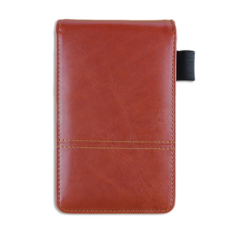 Mini Creative Notebook With Calculator Pocket PU Leather Writing Pad Book Notepad Diary Memos Small A7 Paper Planner Work Notes notebook traveler leather diary memos writing pads folder solar energy calculator card holder notepad business planner a5 a6 b5