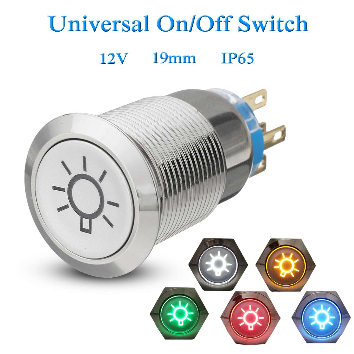 1 Circuit Momentary SPST-NO ON Push Button Switch Black 3A 250V OFF-