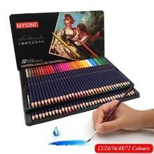 HuiQin 12/24/36/48/72 professional  Watercolor  Color Pencils lapices de colores for Coloured Drawing Pencil Set Art Supplies