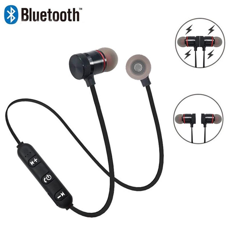 Magnetic Bluetooth Earphone Wireless Headphone Sport Sweat Proof Earphone Earpiece Stereo Headset for Mobile Phone Headset magnetic attraction bluetooth earphone headset waterproof sports 4.2