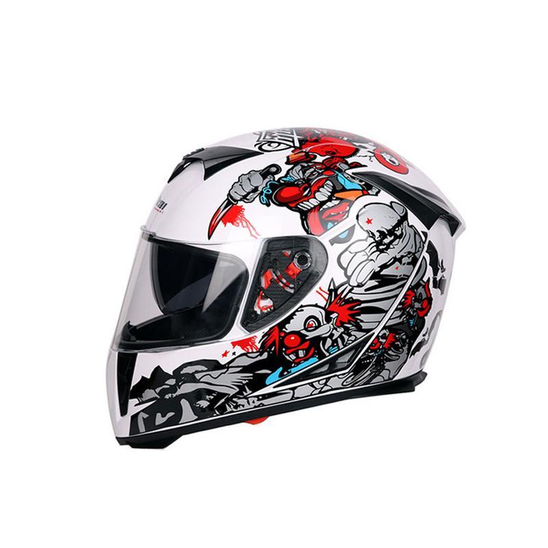 Moto Casque Intégral Racing Casque Casque Moto Kask Casques Barre Accident de Kaski Pour Yamaha Motocycliste
