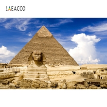 Laeacco Egypt Sphinx Pyramid Remain Backdrop Photography Backgrounds Customized Photographic Backdrops For Photo Studio