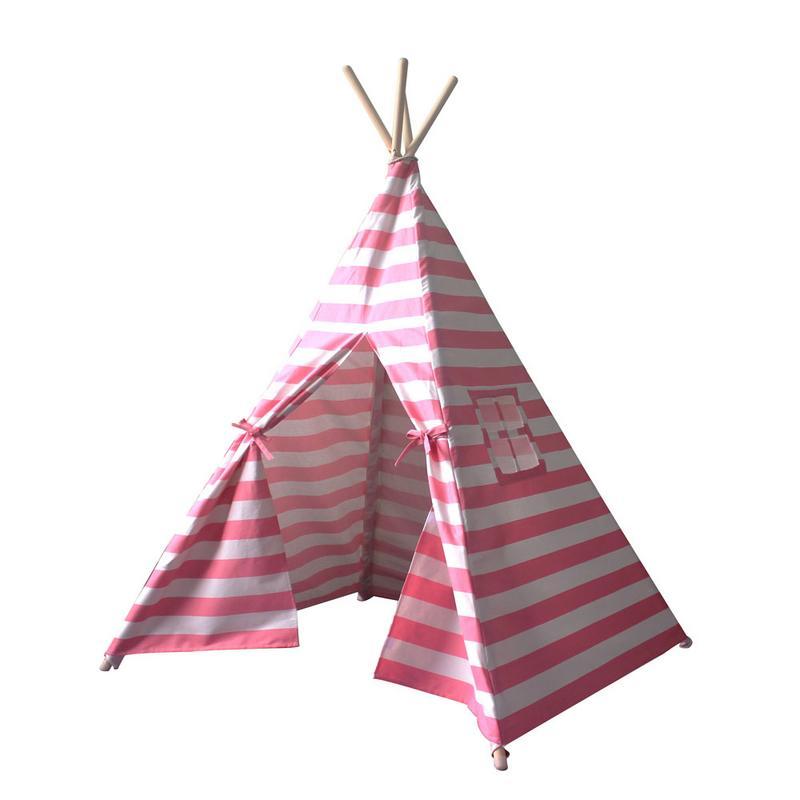 Enfants jouent tente Portable rose princesse fille tipi tente enfants jouent tente jouet à l'intérieur en plein air jeu maison pour enfants espace Secret