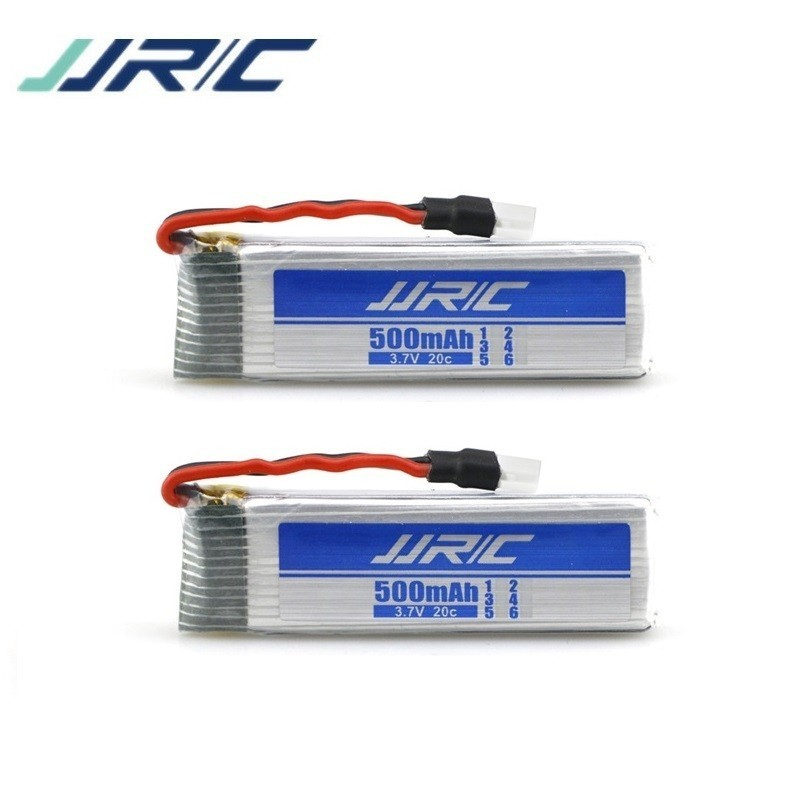 Original 500mAh 3.7V li-po battery for JJRC H37 V966 V977 T37 X20 U815A U818 RC Quacopter Spare Parts Accessories <font><b>701855</b></font> 2Pcs image
