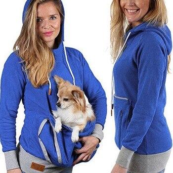 Unisex Kangaroo Pet Dog Cat Holder Pouch Pocket Cotton Blouse Hoodies Top Cotton Winter Cool Autumn Spring