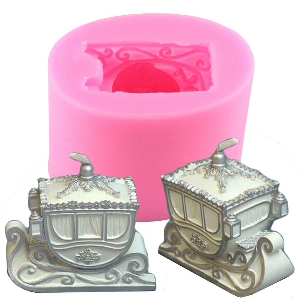 Hair Extensions & Wigs Strong-Willed Diy 3d Christmas Sled Carriage Fondant Cake Mold Clay Candle Mould Soap Moulds Always Buy Good