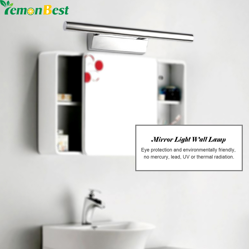 3W 25cm 5W 40cm Vanity Light Modern Led Wall LED Make Up Light Home Stainless Steel LED Mirror Light For Bathroom Vanity Table