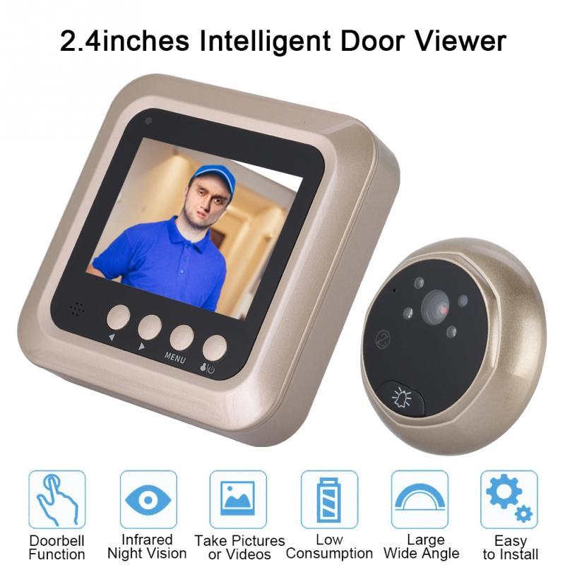 2,4 Zoll 1080 P Intelligente Elektrische Türklingel Drahtlose Digitale Guckloch 160 Grad Infrarot Nacht Szene Sicherheit Tür Viewer