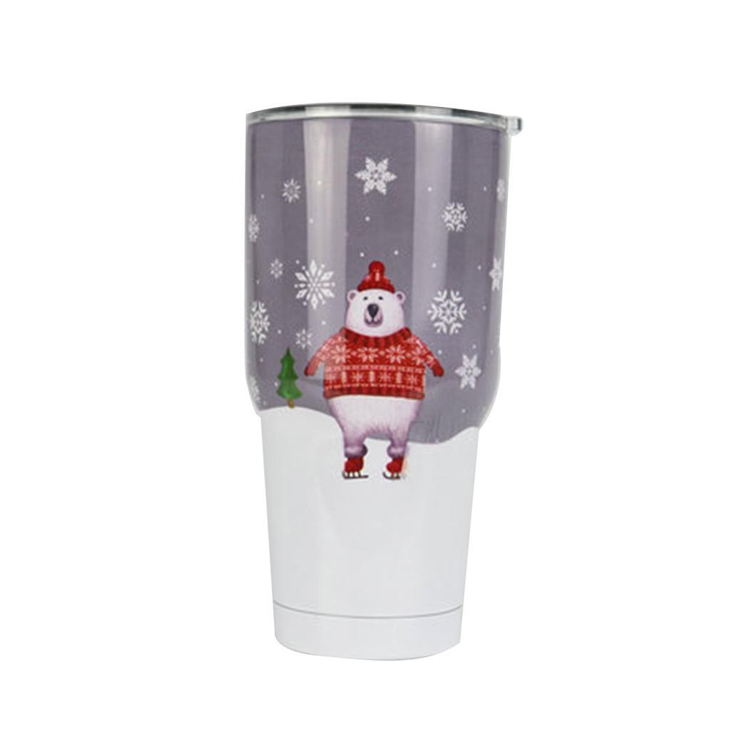 Creative Patterns Vacuum Insulation Cup Portable Stainless Steel Printed Coffee Home, Office, Outdoor Cup