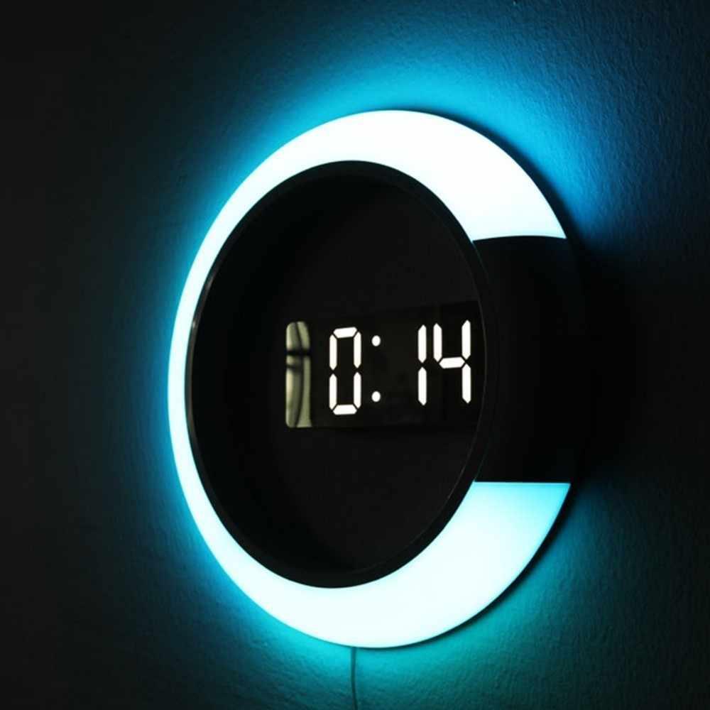Per ciò che concerne i colori con i quali sono. 3d Led Digital Table Clock Alarm Mirror Hollow Wall Clock Modern Design Nightlight For Home Living Room Decorations Wall Clocks Aliexpress