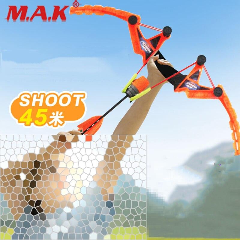 Children's Bow And Arrow Set Sucker Arrow In ABSplastic Fit Outdoor Indoor Archery Hunting Accessories As Gift For Children