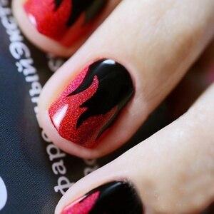 Image 4 - Plantilla de vinilos de uñas con 2 hojas, pegatinas huecas, plantilla de manicura calcomanías para decoración de Arte de uñas