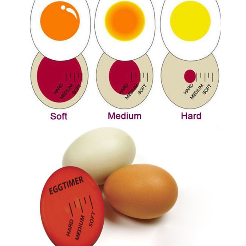 Perfect Color Egg Changing Timer Yummy Soft Hard Boiled Eggs Cooking Kitchen  Egg Tools Egg Themometer
