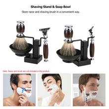 2 in 1 Shaving Stand Holder Set for Shaving Brush Razor Soap Bowl Mug Cup Set Shaving Kit Male Facial Cleaning Tool