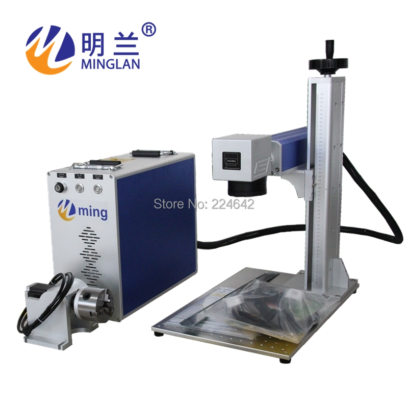 Machine de marquage de fibres gravure Laser acier inoxydable, laiton, aluminium (iPhone, iPad), fer, or, argent, titane et métal