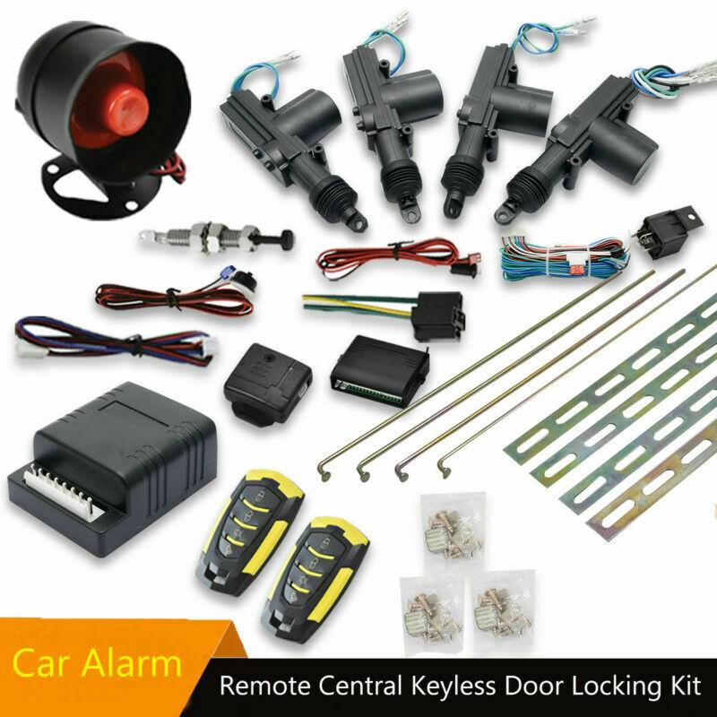 Remote Central Locking Kit Car Alarm For 4 Doors immobiliser Shock Sensor