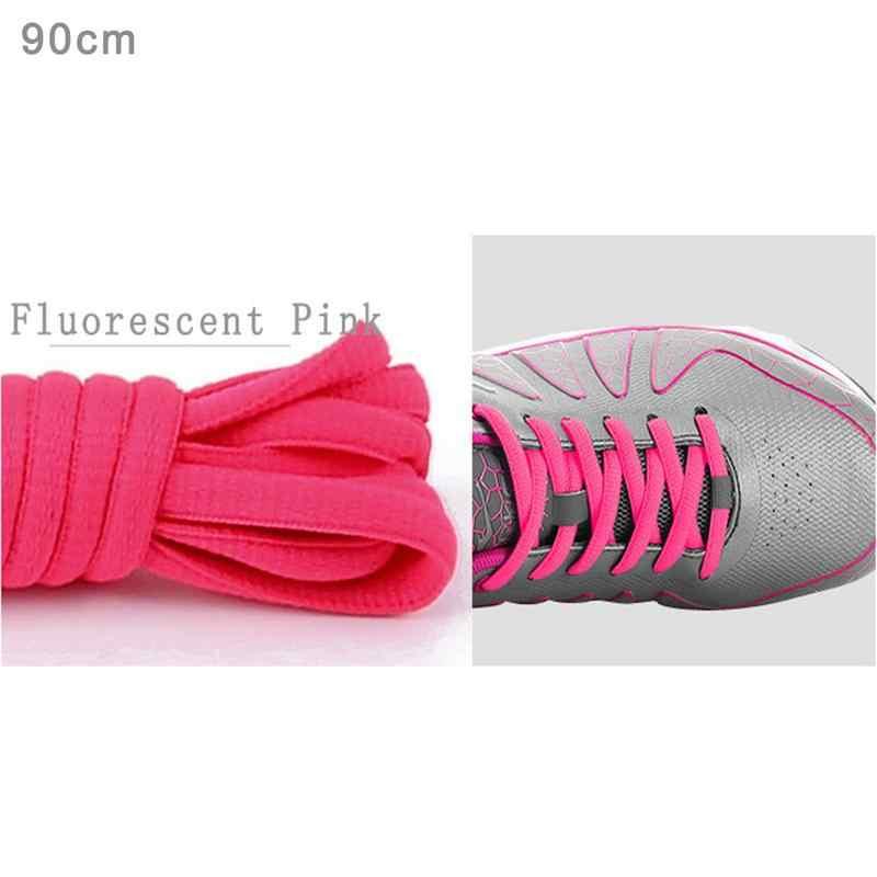 Gri Mavi Yeşil Kırmızı Sarı Beyaz Siyah Yeni Ayakkabı Bağı En Kaliteli Polyester Katı Klasik Yuvarlak Ayakabı Rahat Spor Botları 90 CM