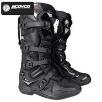 SCOYCO Motorcycle Enduro Motocross Boots Riding Mx Moto Cross Botas Motorbike Motorboats Shoes Racing Men's MTB Downhill Boots